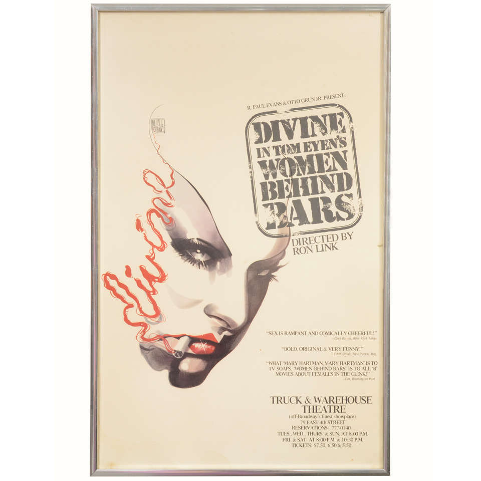 Theater poster of ine in women behind bars at 1stdibs