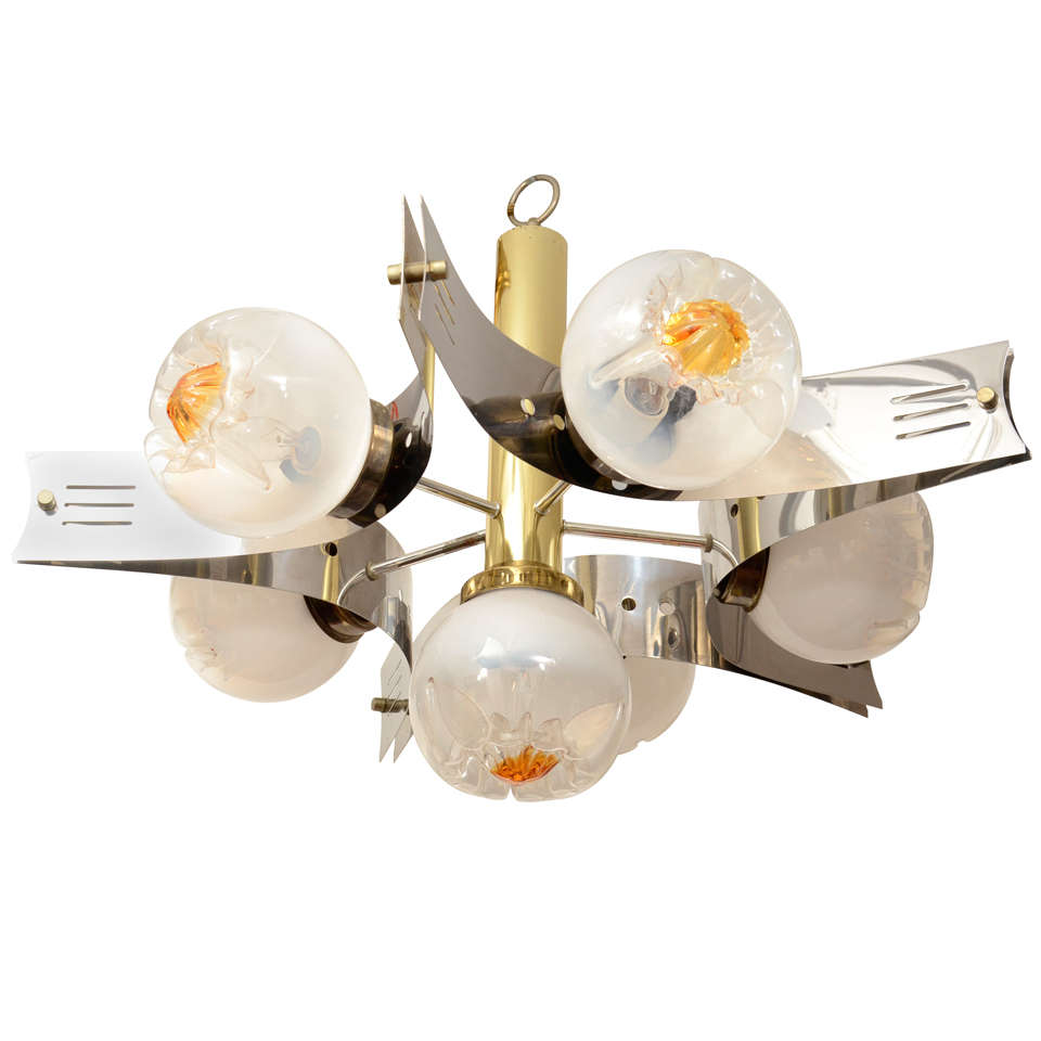 Striking Mazzega Chandelier