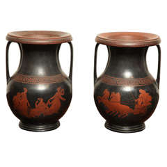 Pair of 19th Century Welsh Vases