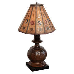 Arts and Crafts Lamp With Mica Shade