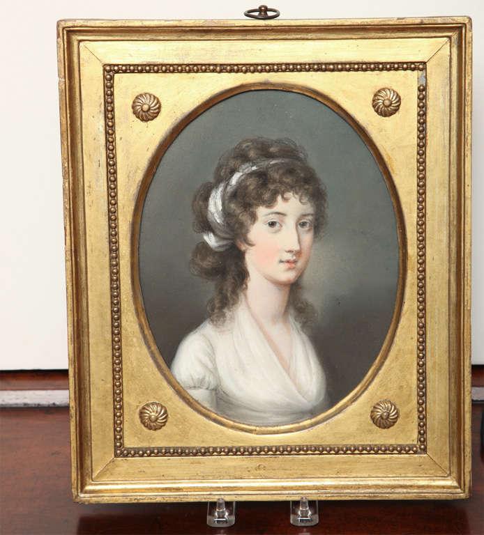 Pastel Portrait of Mary Alymer by Hugh Douglas Hamilton