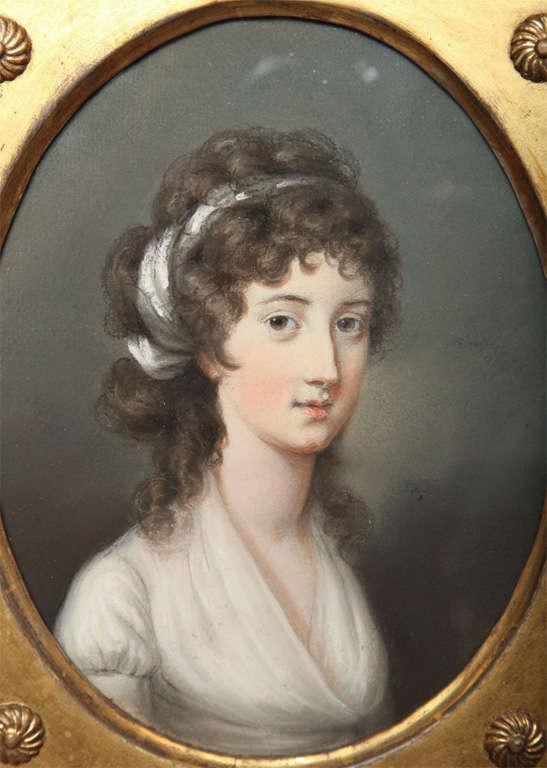 Portrait by Hugh Douglas Hamilton  In Good Condition For Sale In New York, NY