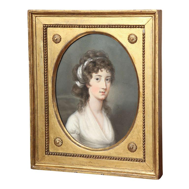 Portrait by Hugh Douglas Hamilton  For Sale