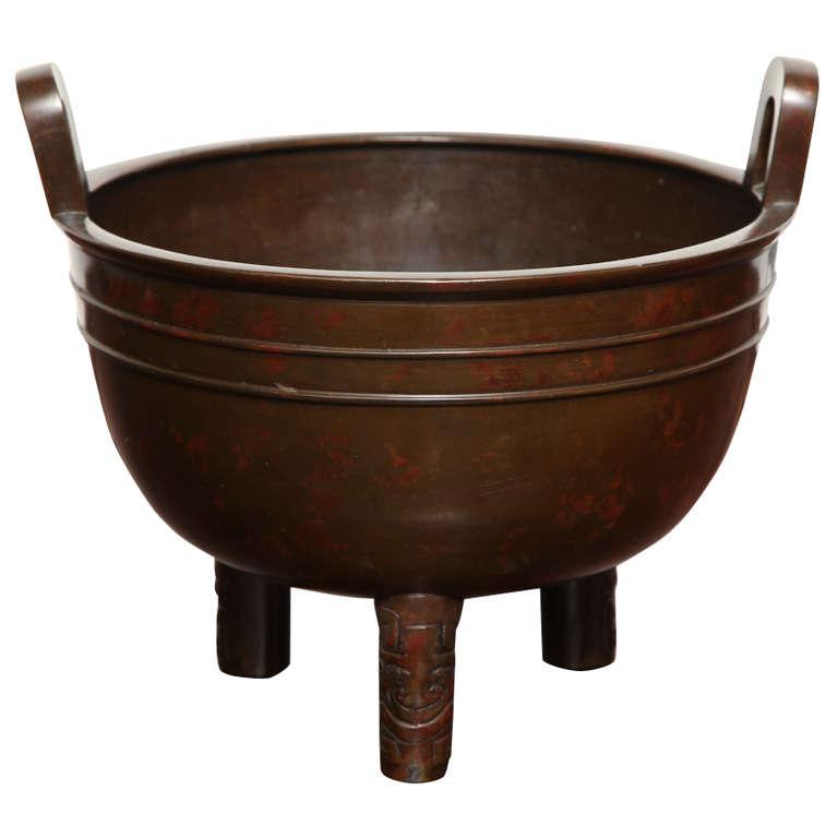 19th Century Japanese Bronze Censor