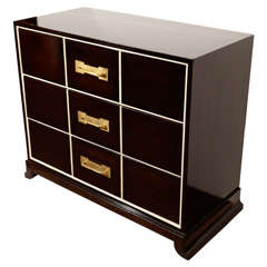 Mid Century Three Drawer Dresser by Tommi Parzinger