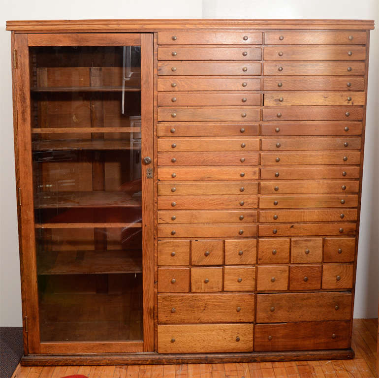 Superb Elaborate Mission Apothecary Cabinet With 44 Drawers 3