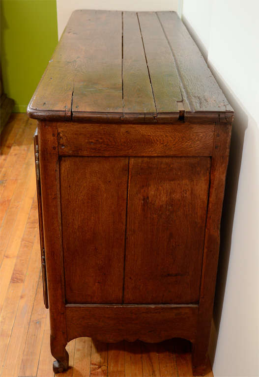 Antique French Oak Sideboard With Three Drawers And Two