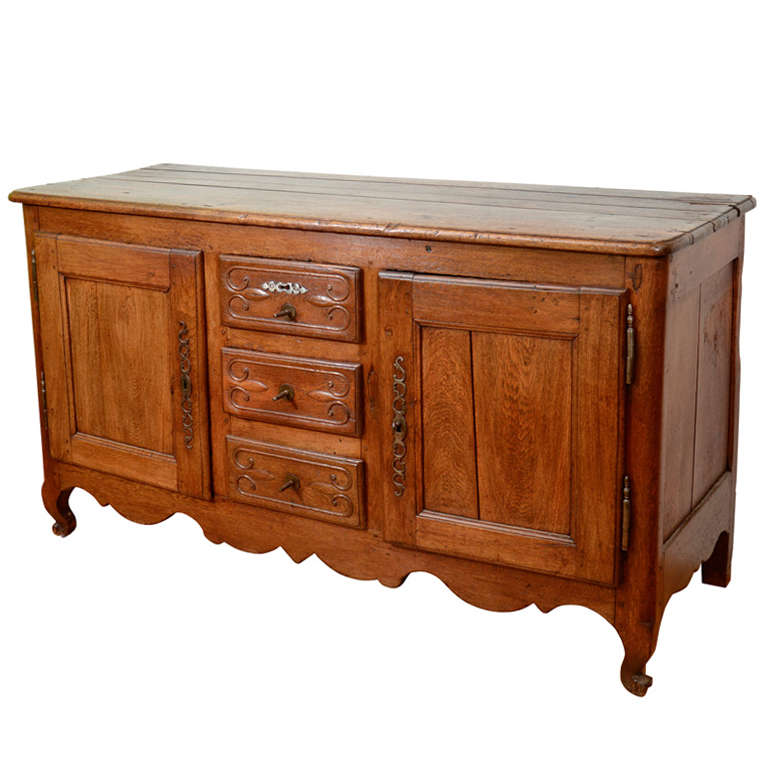 Antique French Oak Sideboard With Three Drawers And Two Cabinets - Antique  Sideboard Cabinet - Best - Antique Sideboard Cabinet Antique Furniture