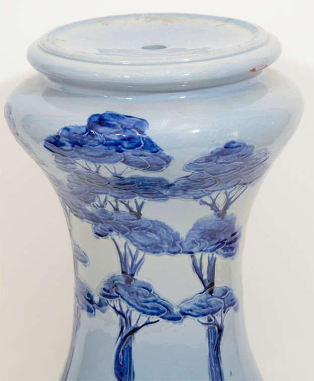 Blue and white ceramic table base for sale at 1stdibs - Ceramic pedestal table base ...