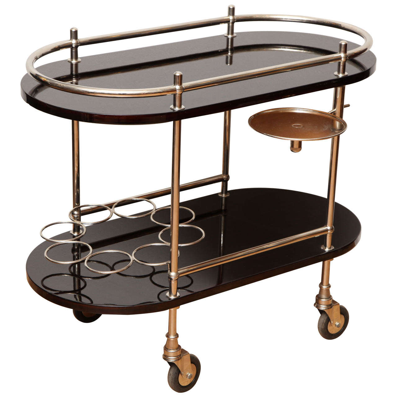 Art Deco Rolling Bar Cart At 1stdibs