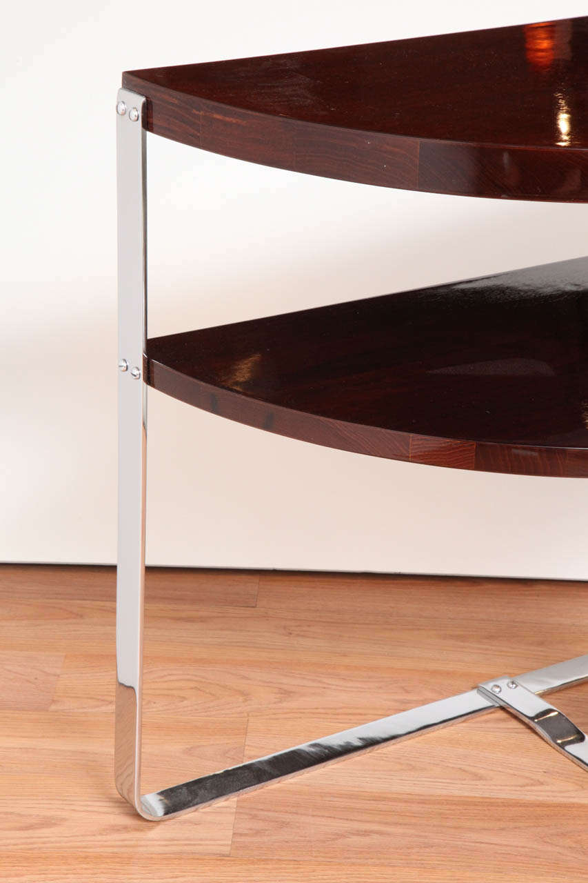 American Pair of Machine Age Art Deco Side Tables in the Style of Donald Deskey For Sale