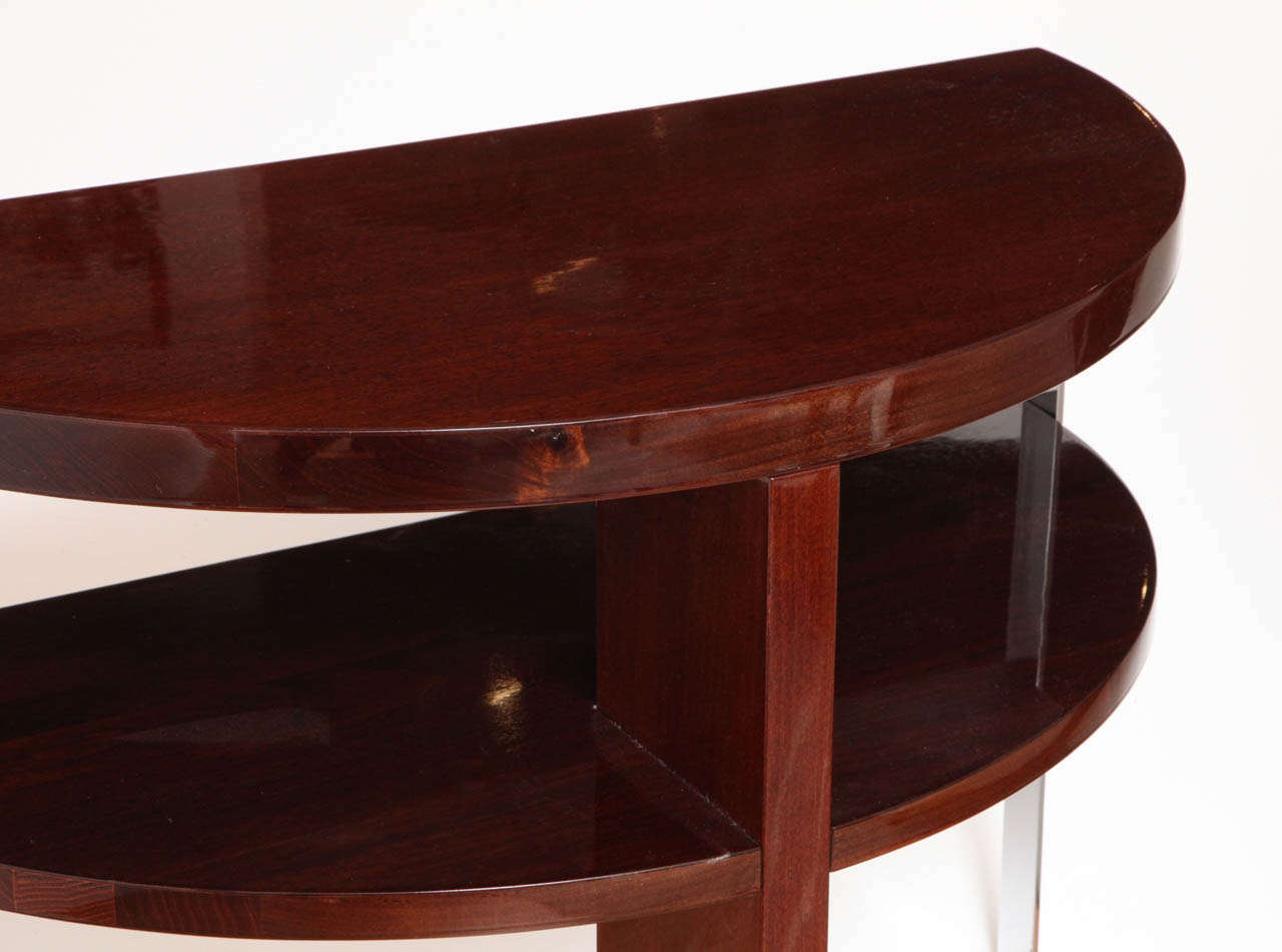 Mid-20th Century Pair of Machine Age Art Deco Side Tables in the Style of Donald Deskey For Sale