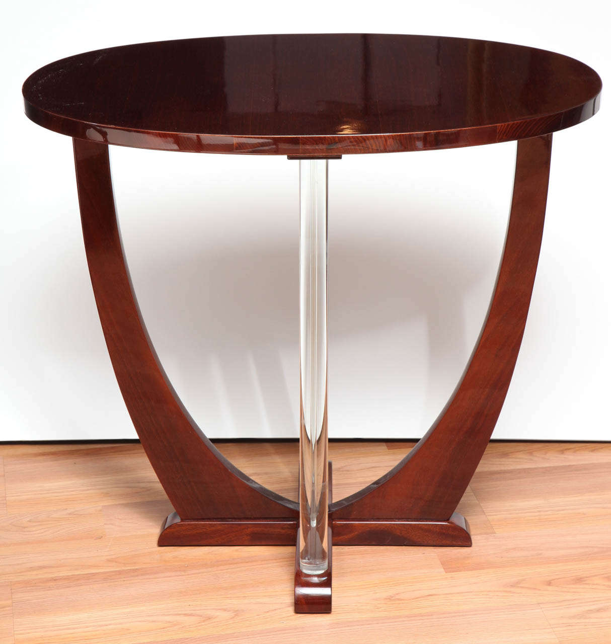 Machine Age Art Deco Oval Glass Rod Lamp Table At 1stdibs