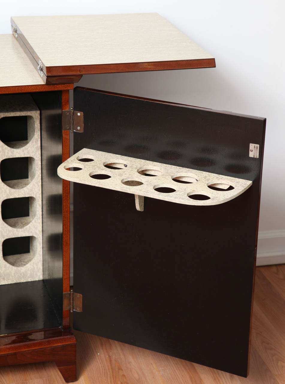 American Mid-Century Fold-Out Bar Cabinet For Sale