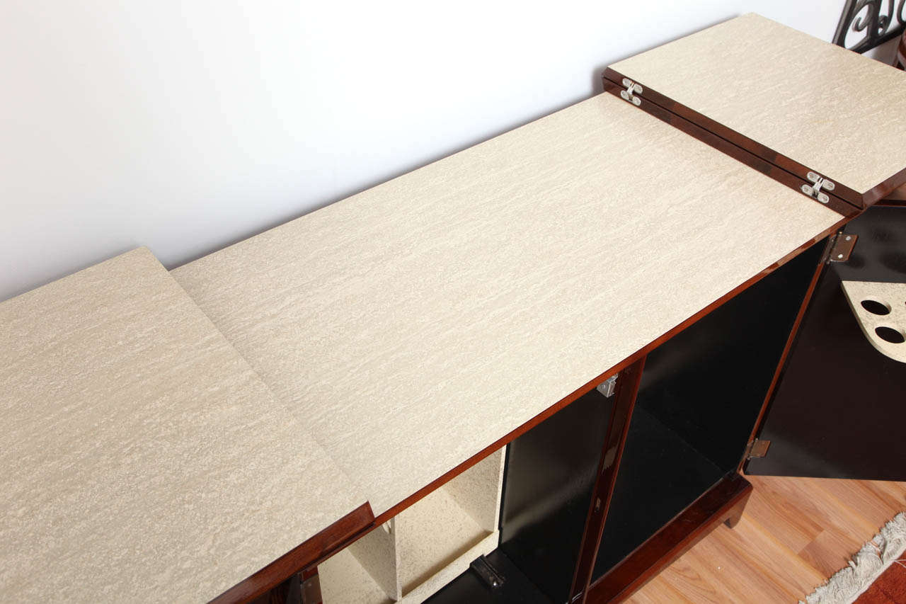 Mid-20th Century Mid-Century Fold-Out Bar Cabinet For Sale