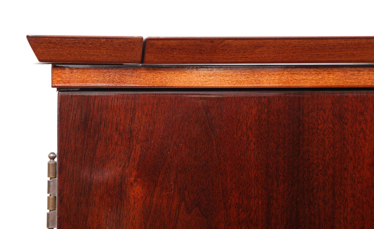 Mid-Century Fold-Out Bar Cabinet For Sale 2