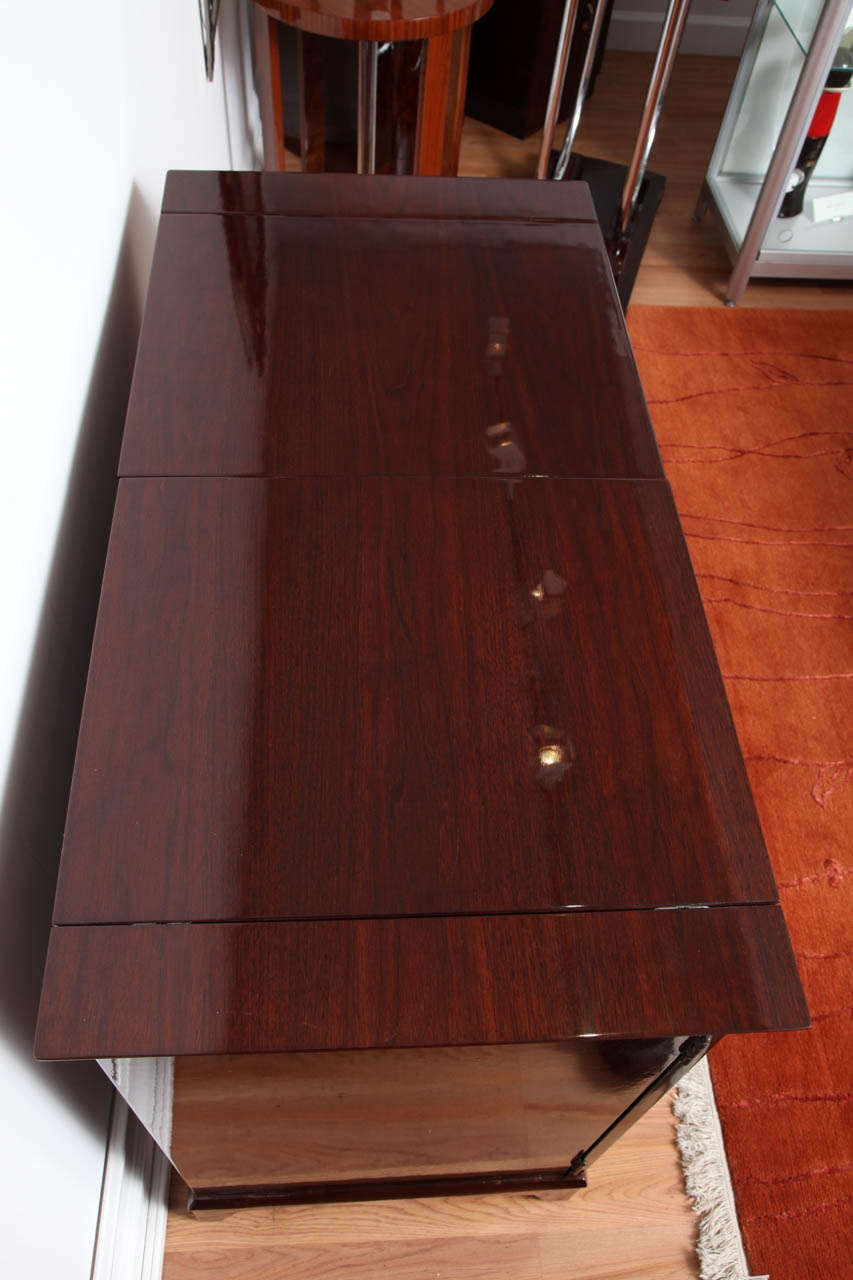 Mid-Century Fold-Out Bar Cabinet For Sale 3