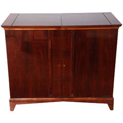 Mid-Century Fold-Out Bar Cabinet
