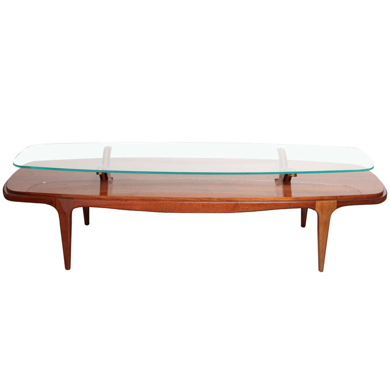 Midcentury Surfboard Cocktail Table At 1stdibs