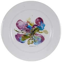 """Zao Wou Ki Printed Plate, """"Orchidée"""""""