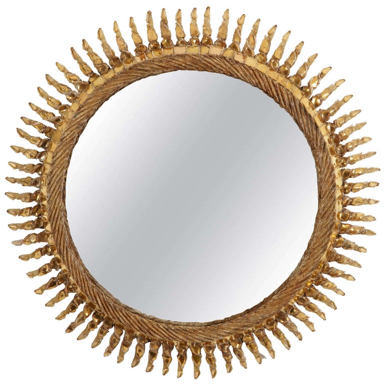 Line Vautrin Mirror Twisted Sun 'Soleil Torsadé' For Sale