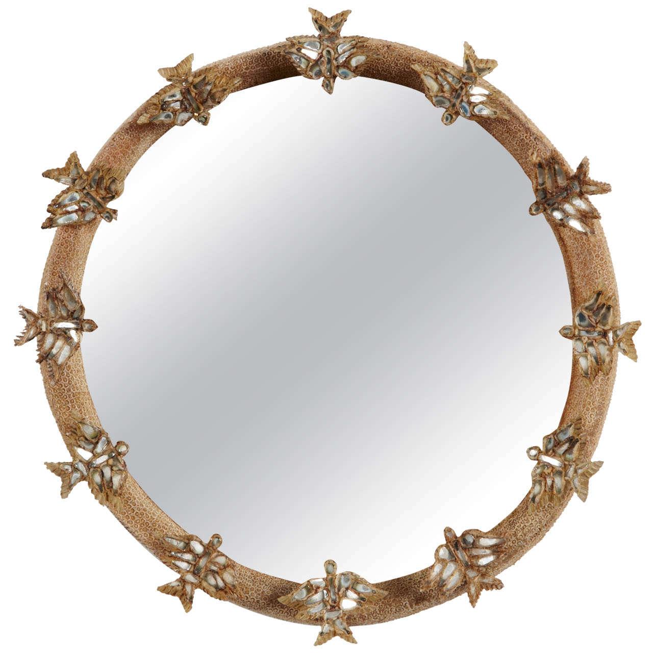 Line vautrin skylark mirror miroir aux alouettes at 1stdibs for Miroir aux alouettes
