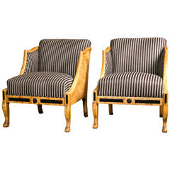 Pair of Swedish Club Chairs