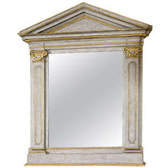 French Painted and Gilt Mirror