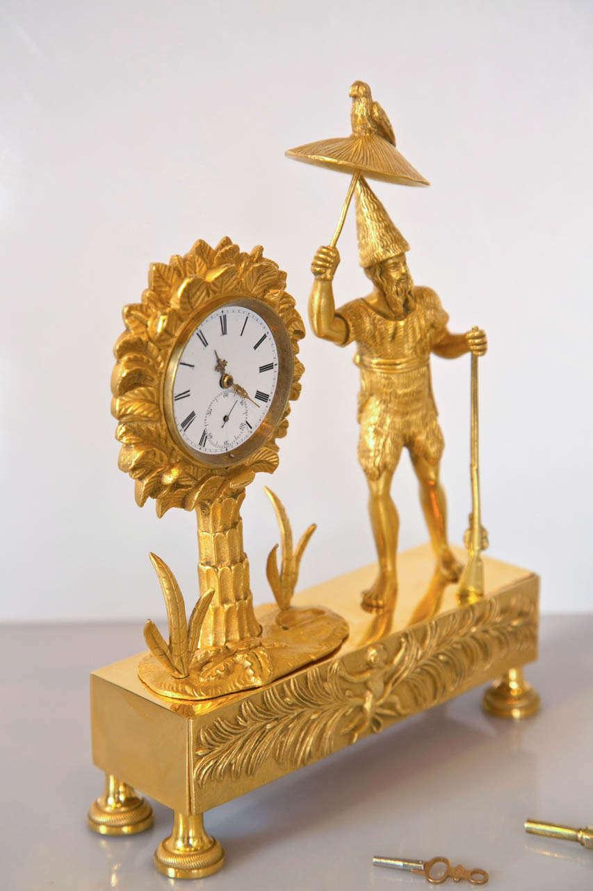 Robinson Crusoe Mantel Clock Image 5