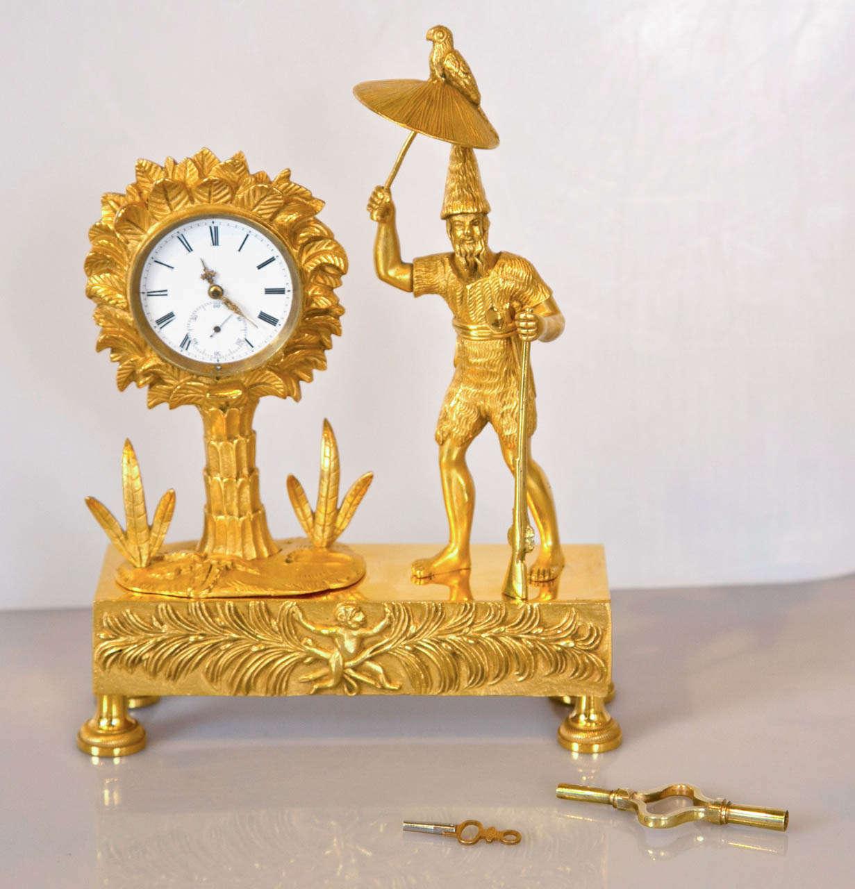 Robinson Crusoe Mantel Clock Image 2