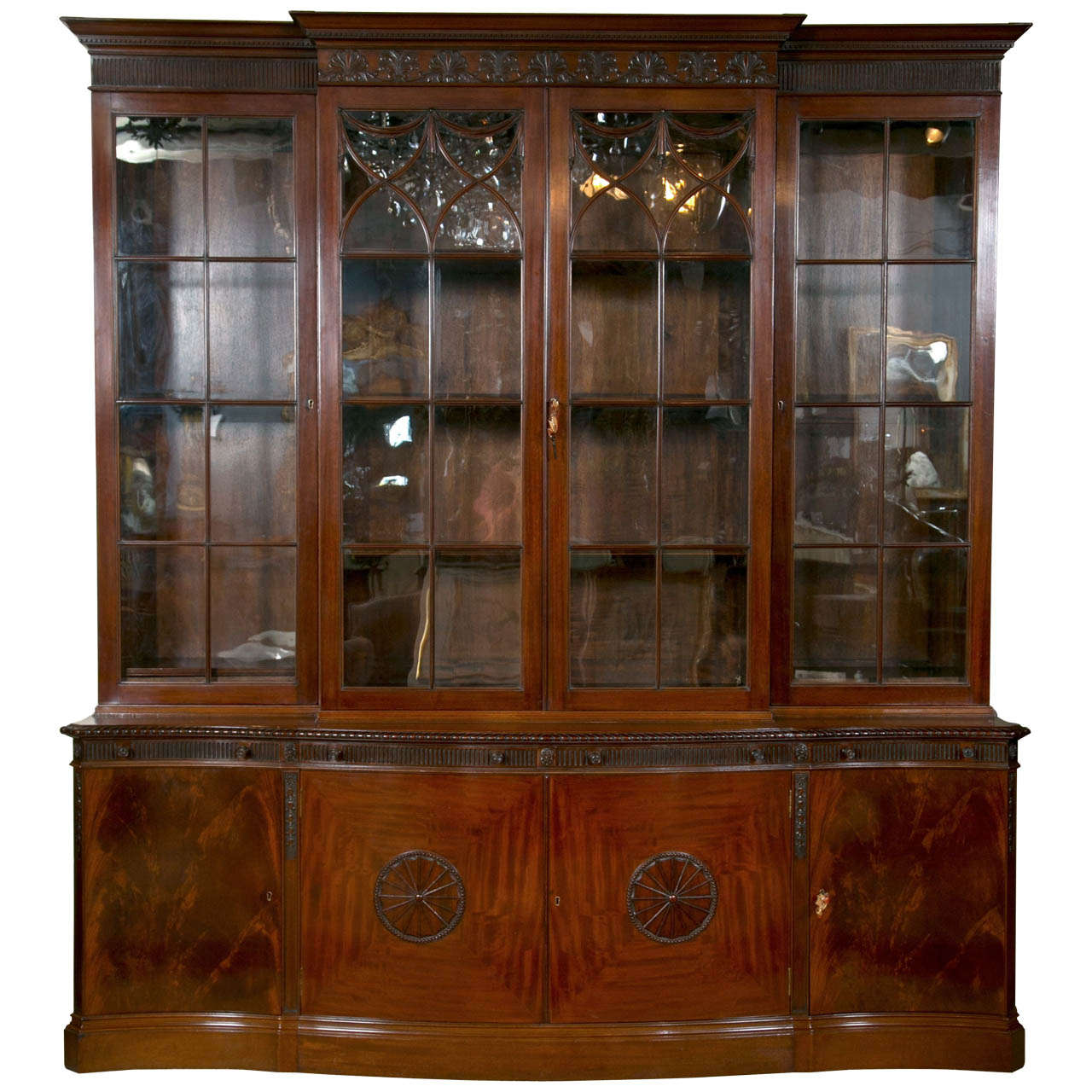 Mahogany Breakfront Bookcase For Sale At 1stdibs