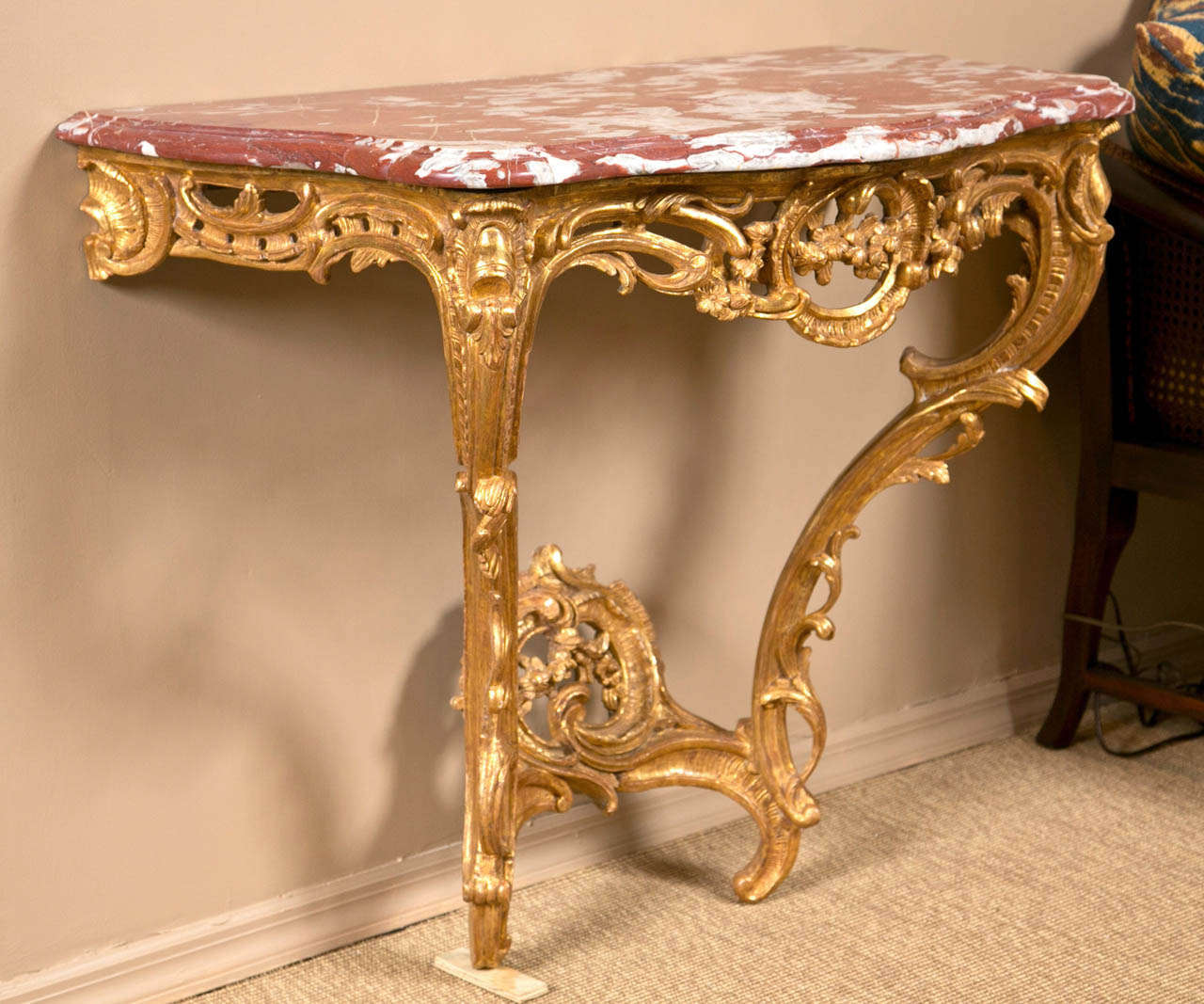 Id F_1023042 on Rococo Louis Xv Style Painted Console At 1stdibs