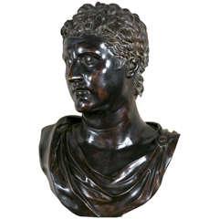 Bronze Bust of Caesar Augustus