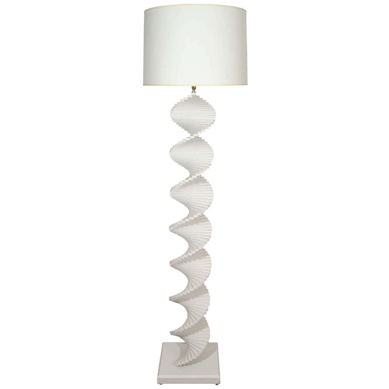 A studio made white painted spiral floor lamp at 1stdibs for White painted floor lamp