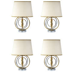 Nice Set of Four 1980s Lamps