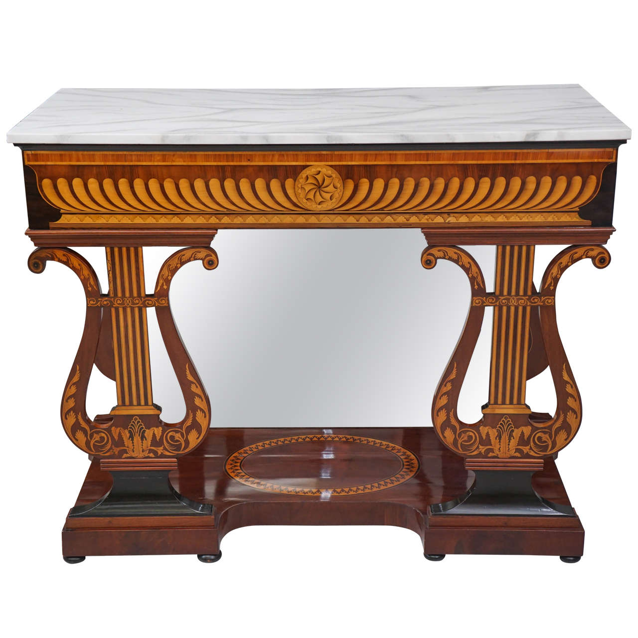 Very Fine Austrian Biedermeier Marble Topped Console Table