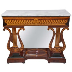 Austrian Biedermeier Marble Topped Console Table