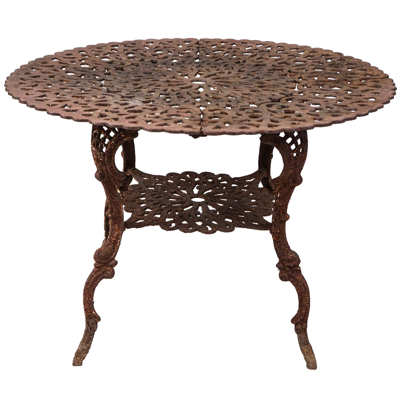 Outdoor Victorian Table: Late 19th Century Victorian Cast Iron Table At 1stdibs