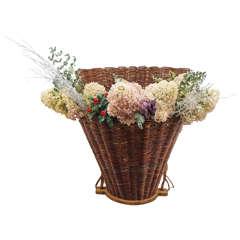 French Straw Grape Gathering Basket