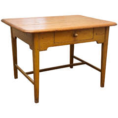 Canadian Table in Mustard Paint
