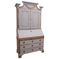 18th Century Gustavian Secretary/Bookcase