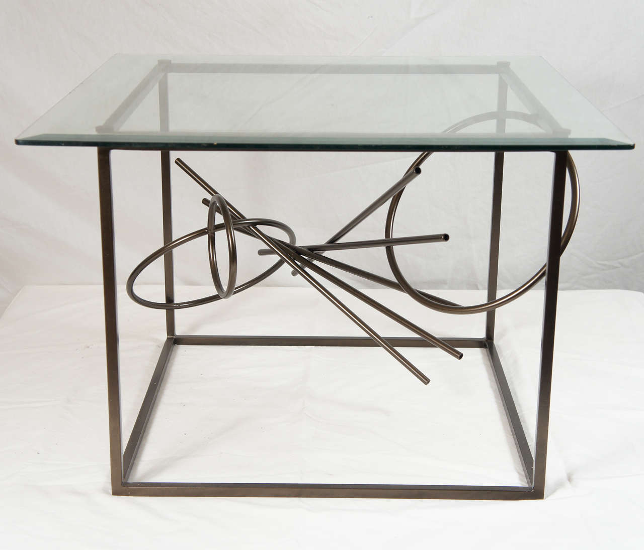 American Original Custom-Made in America, One of a Kind Sculptural Table by Lou Blass For Sale