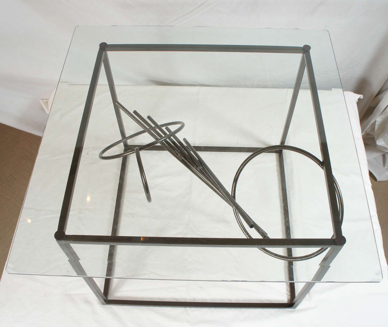 Powder-Coated Original Custom-Made in America, One of a Kind Sculptural Table by Lou Blass For Sale