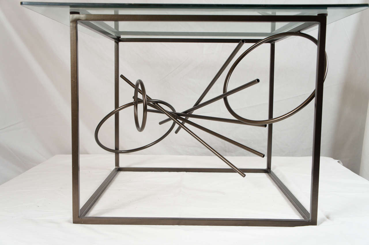 Original Custom-Made in America, One of a Kind Sculptural Table by Lou Blass In Excellent Condition For Sale In Hudson, NY