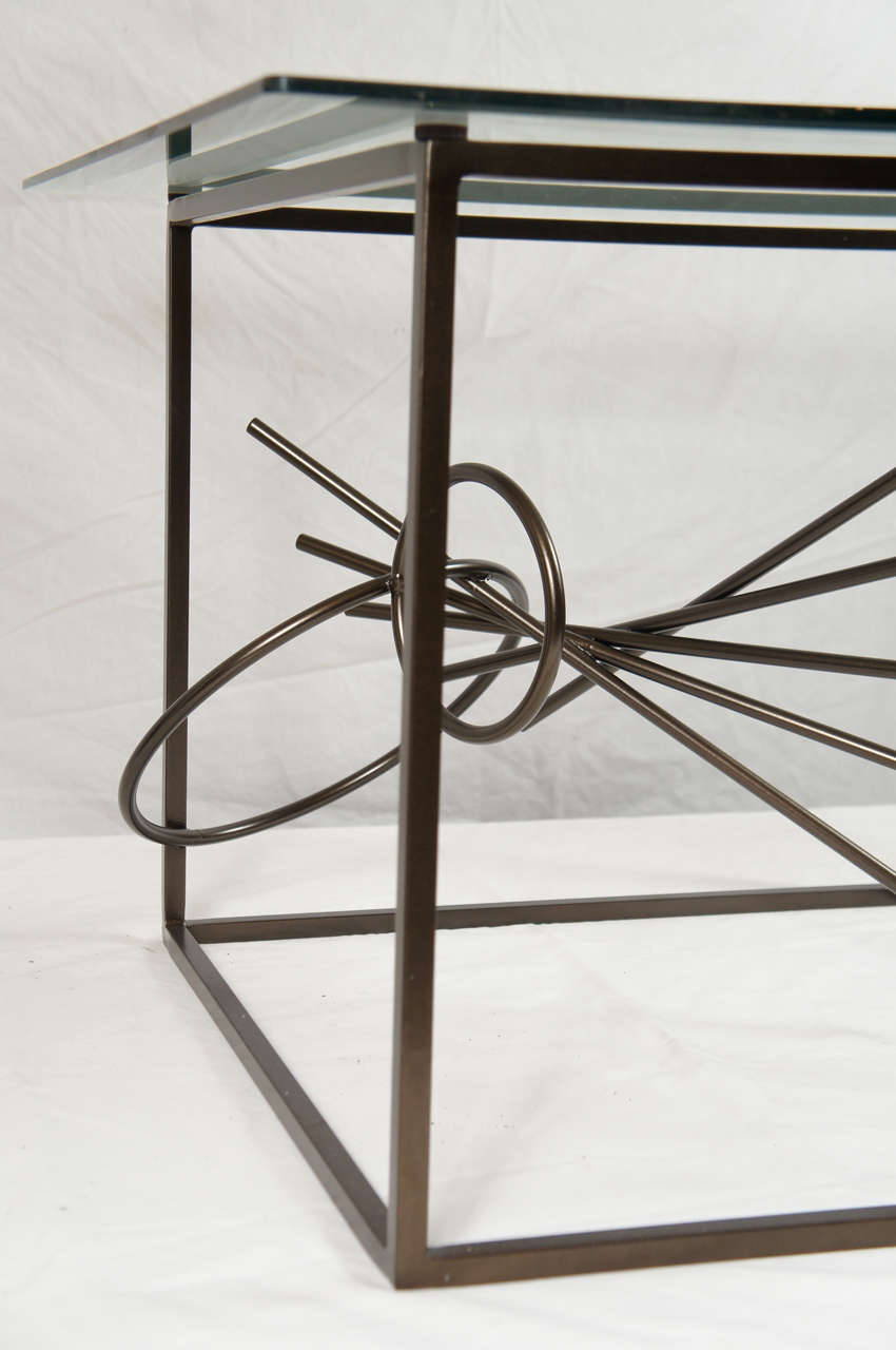 Steel Original Custom-Made in America, One of a Kind Sculptural Table by Lou Blass For Sale