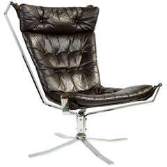 Impeccable 1970's Sigurd Resell Falcon Chair