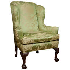 18th Century Walnut Wing Chair