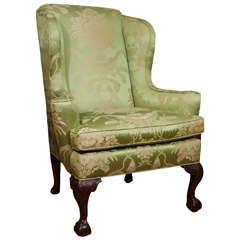 18th Century Walnut Wing Chair