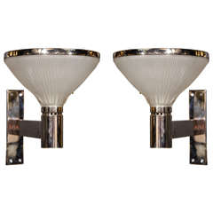 Pair of Mid-Century Uplight Sconces Designed by Sergio Mazza for Artemide