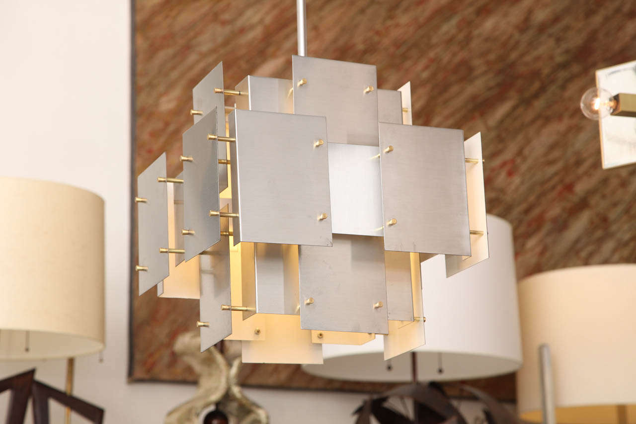 1960s Modernist Architectural Ceiling Fixture by Sonneman 3